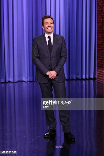 Host Jimmy Fallon during the opening monologue on April 17 2017