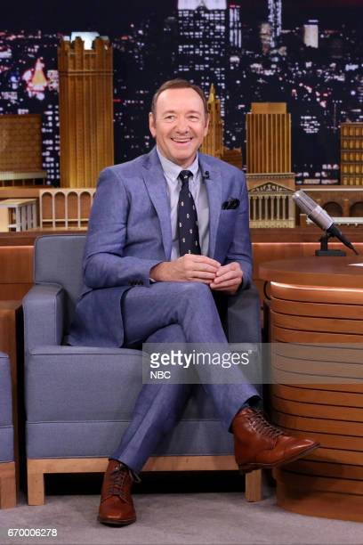 Actor Kevin Spacey during an interview with host Jimmy Fallon on April 18 2017