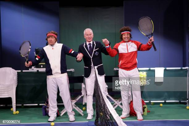 Actor Kevin Spacey with John Macnamara and host Jimmy Fallon during 'Mad Lib Theater' on April 18 2017