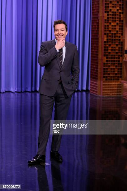 Host Jimmy Fallon during the opening monologue on April 18 2017