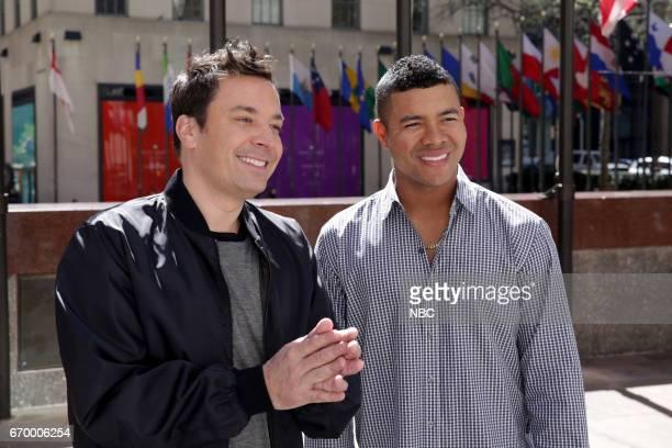 Host Jimmy Fallon teaches José Quintana Spanish on April 18 2017