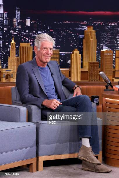 Author/Chef Anthony Bourdain during an interview on April 19 2017