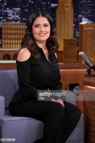Actress Salma Hayek during an interview on April 21 2017