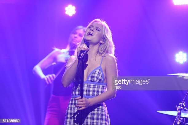 Zara Larsson performs on April 21 2017