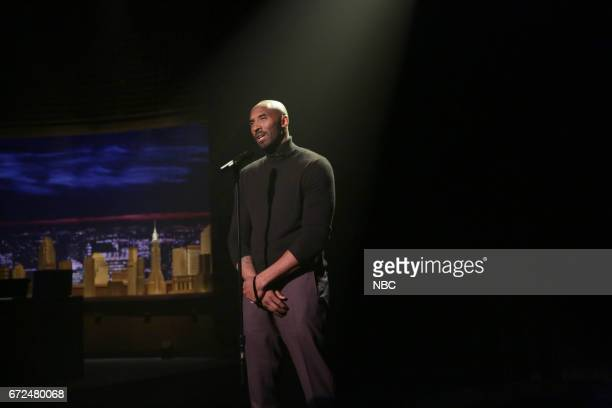 Athlete Kobe Bryant performs 'Family Matters' Slam Poetry on April 24 2017