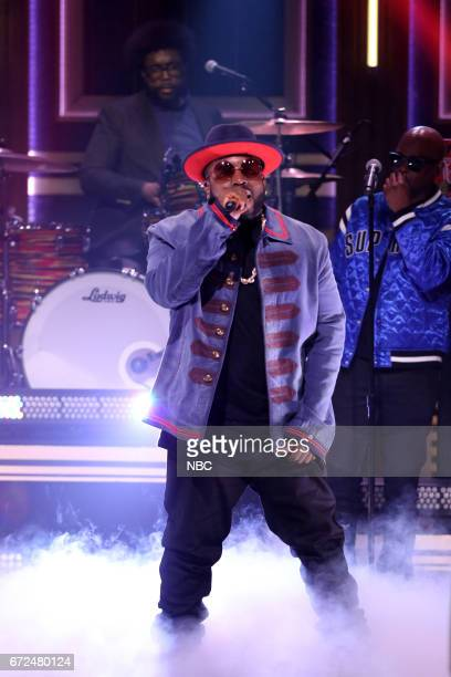 Musical guest 'Big Boi' performs with 'The Roots' on April 24 2017