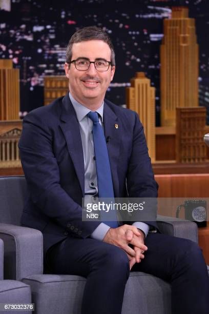 Comedian John Oliver during an interview on April 25 2017