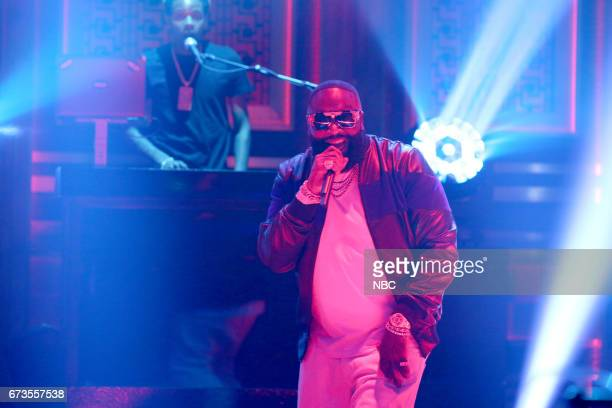 Musical Guest Rick Ross performs 'Trap Trap Trap' on April 26 2017