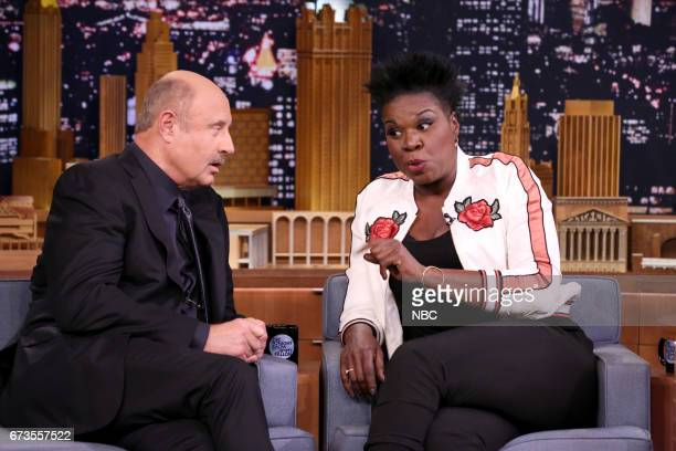 Talk Show Host Dr Phil with comedian Leslie Jones during an interview on April 26 2017