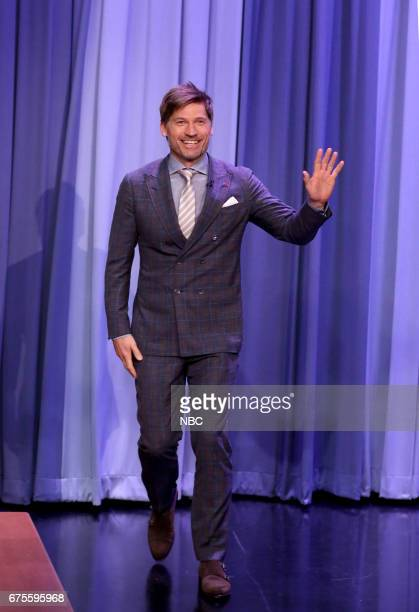 Actor Nikolaj CosterWaldau arrives for an interview on May 1 2017