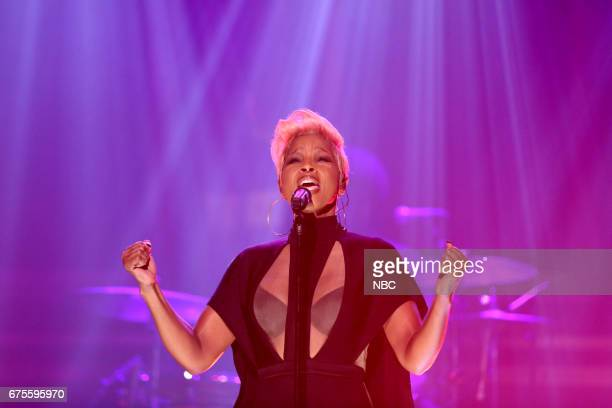 Musician Mary J Blige performs 'Love Yourself' on May 1 2017