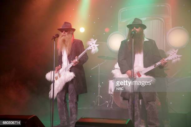 host Jimmy Fallon and musician Chris Stapleton during 'First Drafts of Rock 'Legs'' on May 8 2017