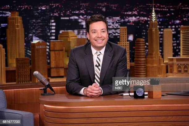Host Jimmy Fallon at his desk on May 10 2017