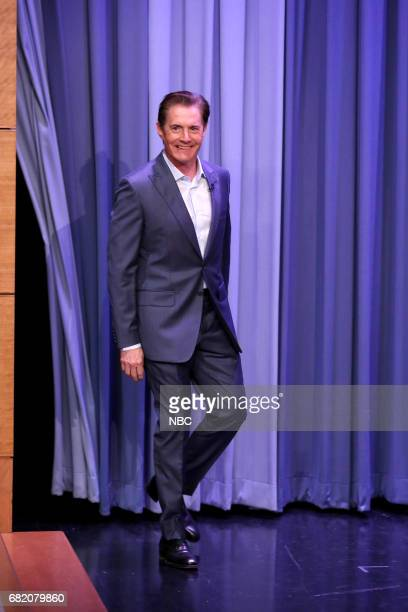 Actor Kyle MacLachlan arrives for an interview on May 11 2017