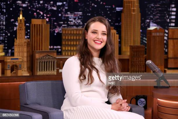 Actress Katherine Langford during an interview with host Jimmy Fallon on May 12 2017