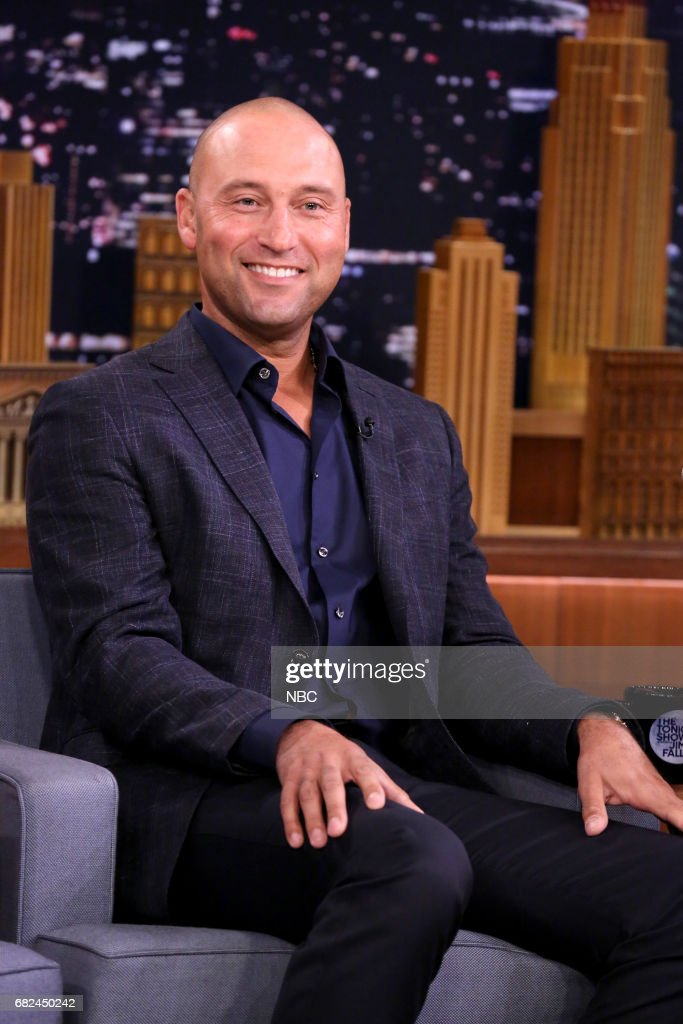 Athlete Derek Jeter during an interview on May 12, 2017 --