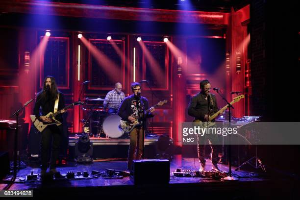 Musical guests Brian Bell Patrick Wilson Rivers Cuomo Scott Shriner of Weezer perform on May 15 2017