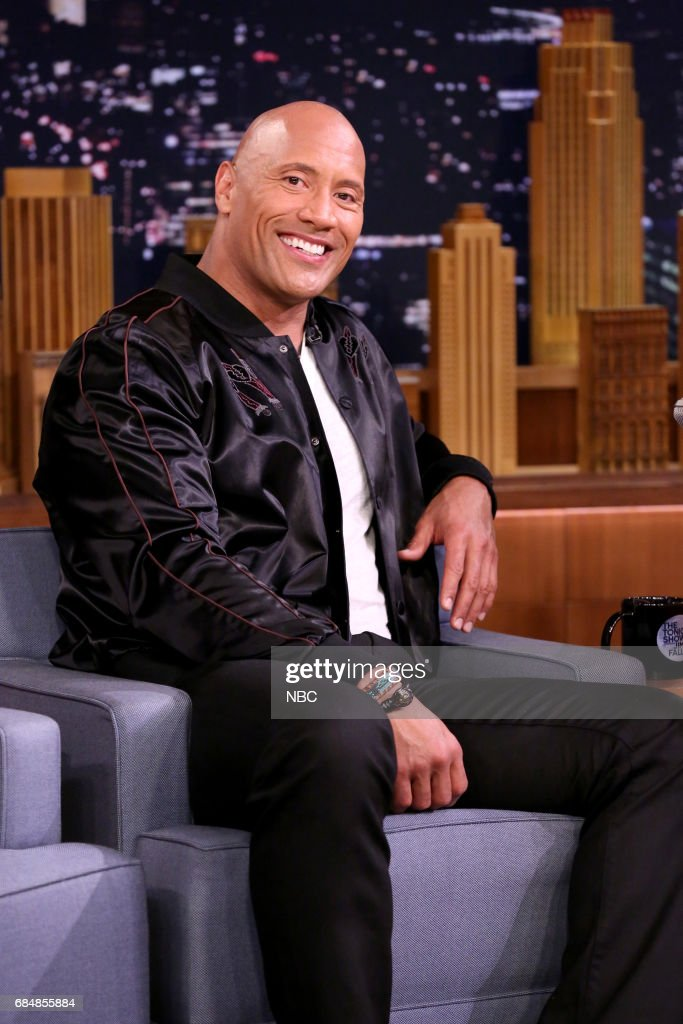 Dwayne Johnson during an interview on May 18, 2017 --