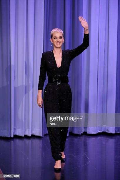 Singersongwriter Katy Perry arrives for an interview on May 19 2017