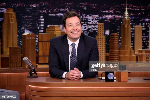 Host Jimmy Fallon at his desk on May 24 2017