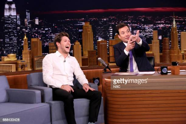 Singer Niall Horan during an interview with host Jimmy Fallon on May 25 2017