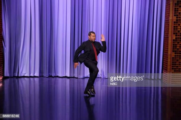 Actor/Comedian Jordan Peele arrives for an interview on May 26 2017