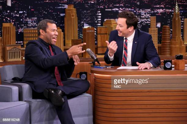 Actor/Comedian Jordan Peele during an interview with host Jimmy Fallon on May 26 2017