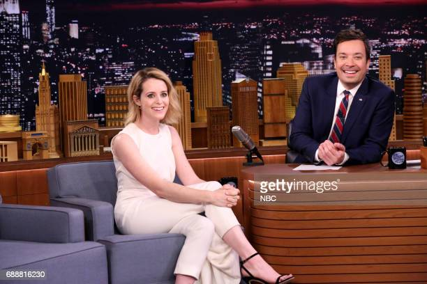 Actress Claire Foy during an interview with host Jimmy Fallon on May 26 2017