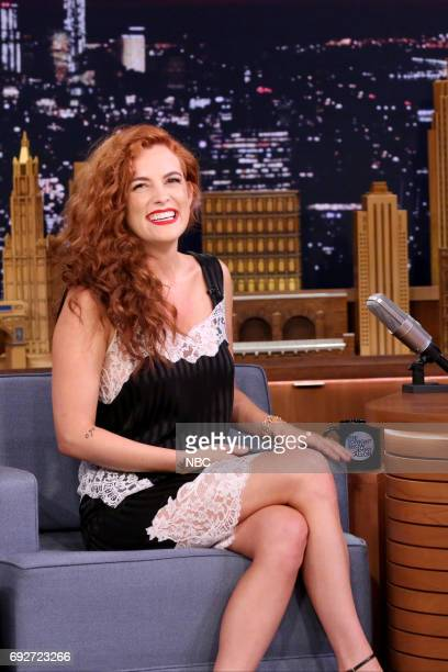 Actress Riley Keough during an interview with host Jimmy Fallon on June 5 2017