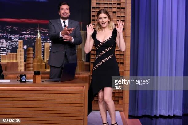 Actor Kate Mara arrives for an interview with host Jimmy Fallon on June 6 2017