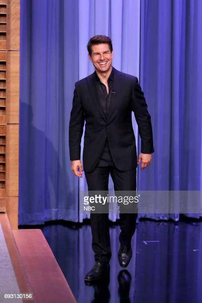 Actor Tom Cruise arrives for an interview on June 6 2017