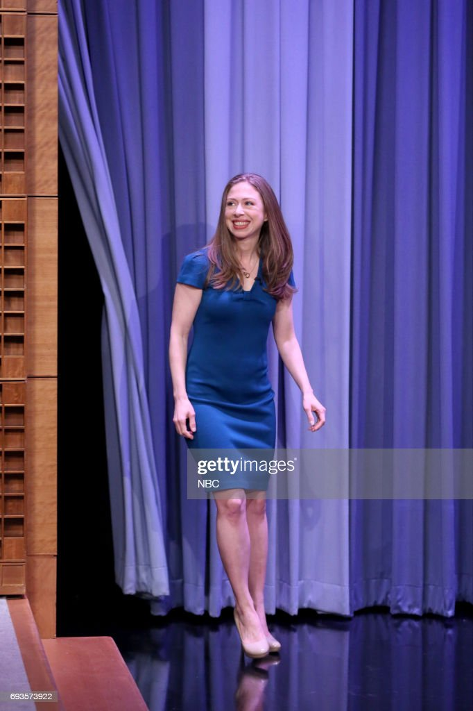 Author Chelsea Clinton arrives for an interview on June 7, 2017 --
