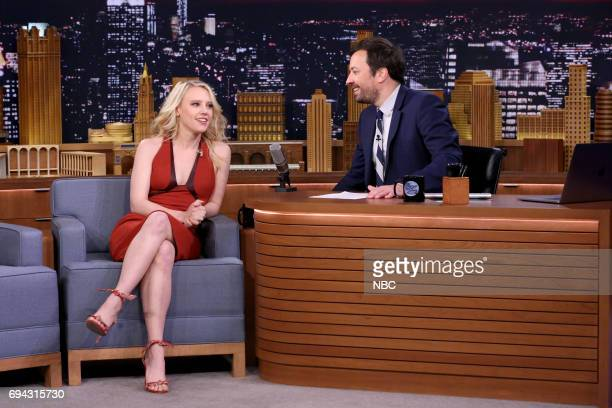 Actress Kate McKinnon during an interview with host Jimmy Fallon on June 9 2017