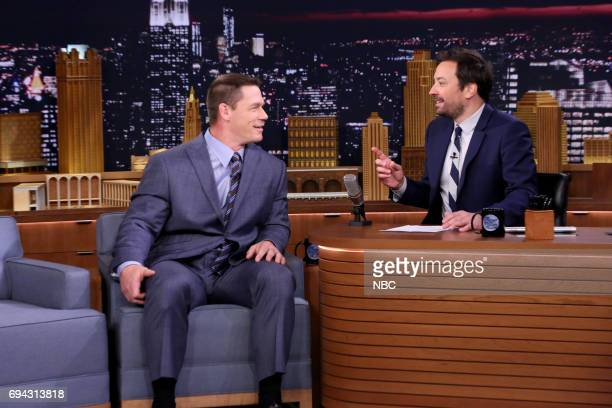 Professional wrestler John Cena during an interview with host Jimmy Fallon on June 9 2017