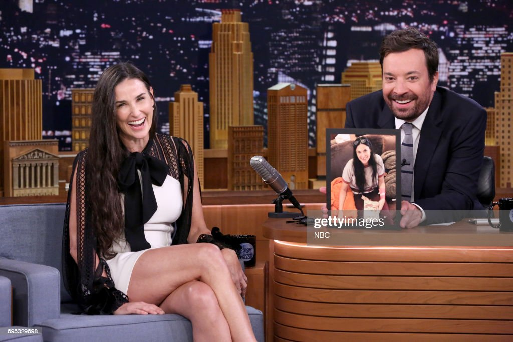 "NBC's ""Tonight Show Starring Jimmy Fallon"" With Guests Demi Moore, Demetrius Shipp, Jr., Naathaniel Rateliff, Charles Berry Jr., and Charles Berry III"