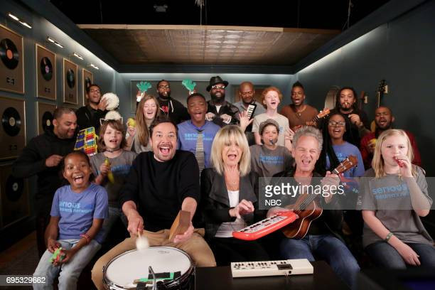 Host Jimmy Fallon with Christine McVie and Lindsey Buckingham of 'Buckingham McVie' 'The Roots' and SeriousFun Children's Network perform 'Don't...