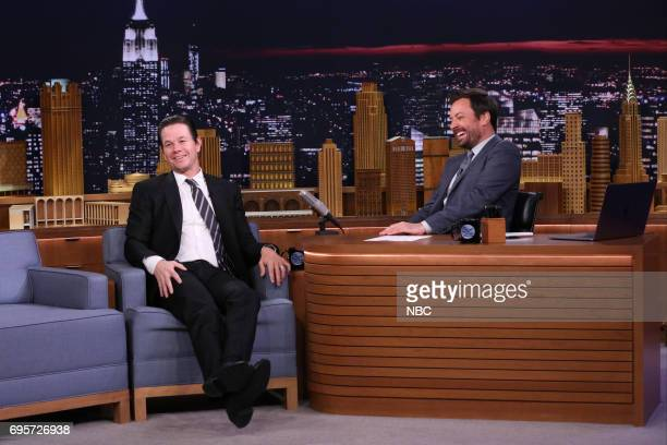 Actor Mark Wahlberg during an interview with host Jimmy Fallon on June 13 2017