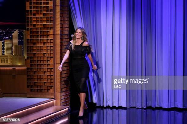 Model Heidi Klum arrives on June 13 2017