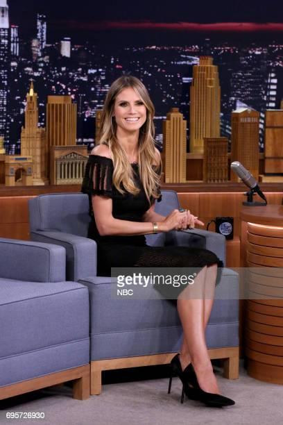 Model Heidi Klum during an interview on June 13 2017