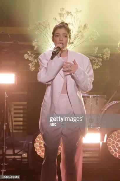 Musical Guest Lorde performs 'Perfect Places' on June 15 2017