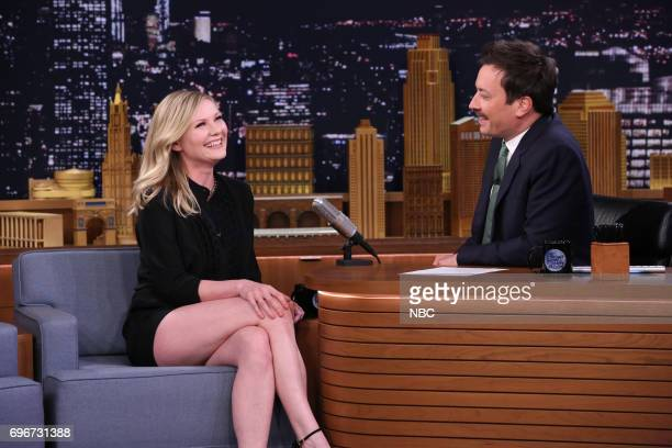 Actor Kirsten Dunst during an interview with host Jimmy Fallon on June 16 2017