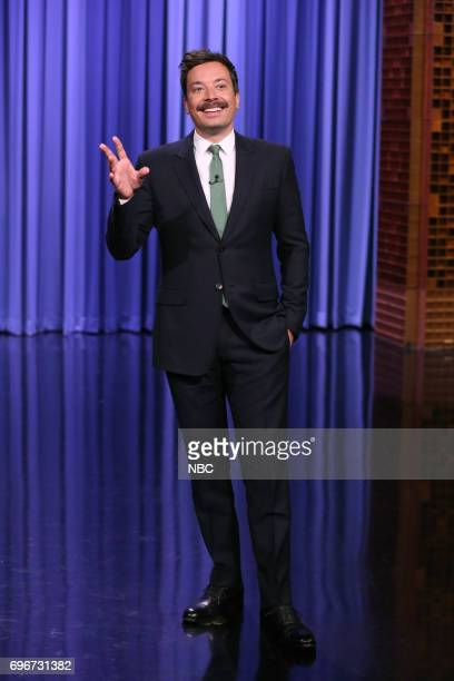 Host Jimmy Fallon during his opening monologue on June 16 2017