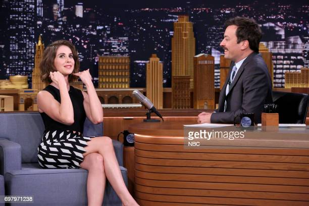 Actor Alison Brie during an interview with host Jimmy Fallon on June 19 2017