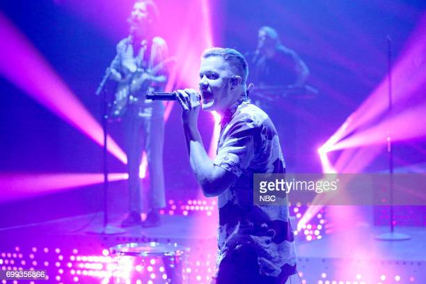 Dan Reynolds of Imagine Dragons performs 'Thunder' on June 20 2017