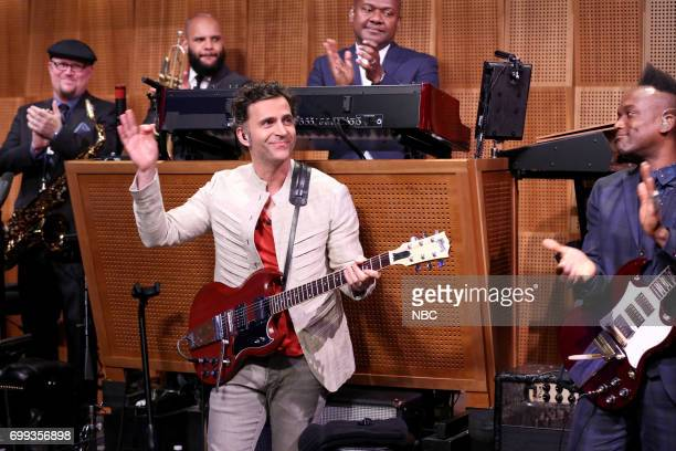 Musician SitIn Dweezil Zappa with The Roots on June 20 2017
