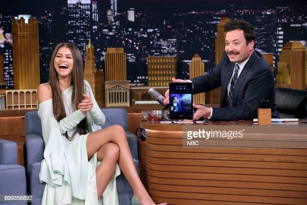Singer/Actor Zendaya during an interview with host Jimmy Fallon June 20 2017