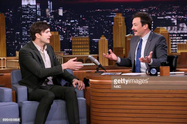 Actor Ashton Kutcher during an interview with host Jimmy Fallon on June 21 2017