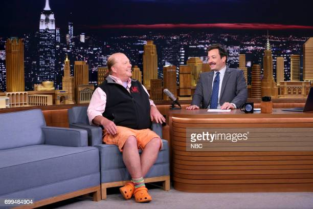 Chef Mario Batali during an interview with host Jimmy Fallon on June 21 2017