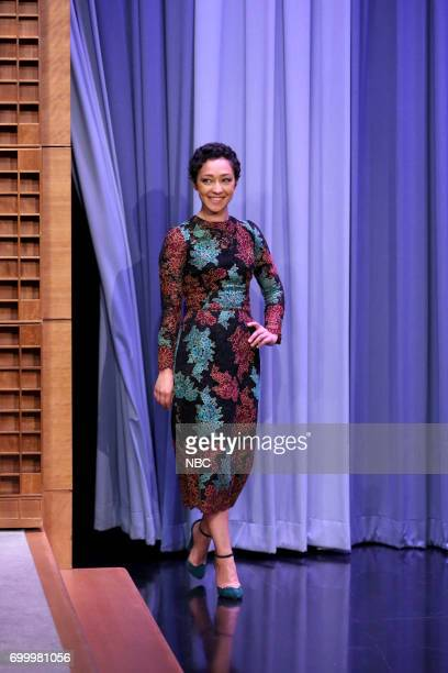 Actor Ruth Negga arrives for an interview on June 22 2017