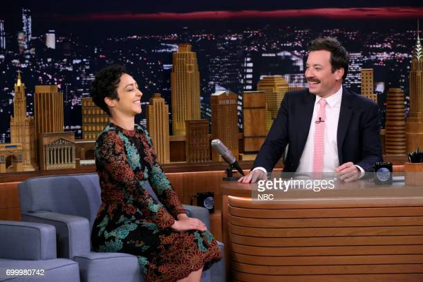 Actor Ruth Negga during an interview with host Jimmy Fallon on June 22 2017